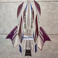 striping stiker Vixion 2014 ungu hitam