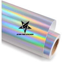 Stiker Sticker Skotlet Body Motor Hologram Warna Pelangi Laser Rainbow