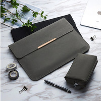 Laptop Asus ZenBook Pro Duo UX581 14 Tas Sleeve Leather Cover Standing