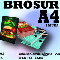 Cetak Brosur A4 (2 Sisi ) Art carton 230 gr Murah ! + laminating glosy