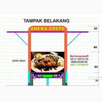 TOKO WARUNG TOKO CAFE KIOS FOOD TRAILER ANHANG GEROBAK MAKANAN KULINER