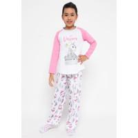 Boboo Kids - Piyama Anak Perempuan Lengan Panjang Pink - 4