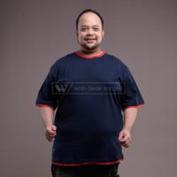 WGB Kaos Double Sleeves Big Size Jumbo Besar XXL XXXL Navy List Merah