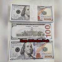 100Pcs/Pak Mainan Uang Dollar Ukuran 15.3cm*6.5cm duit dolar Mirip asl
