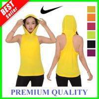 Tank Top Olah Raga Wanita Sport TankTop Hoodie Kaos Running Gym Yoga - Kuning, M