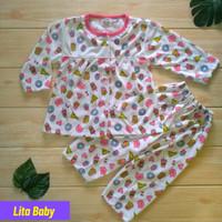 setelan baju bayi perempuan 6 12 bulan lengan panjang