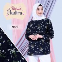 baju atasan muslimah nafira motif bunga ekslusif fashion blouse ori