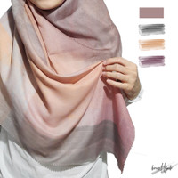 Hijab Voal Ultrafine Printing/brusHijab-Stroke Series (Grey Beige)