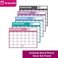 Artpedia Schedule Board Pastel Colour / Schedule Board warna pastel
