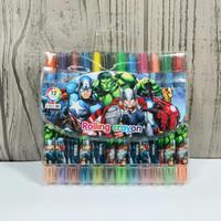 Crayon Putar Avenger Kecil 12 Warna - Pensil Warna