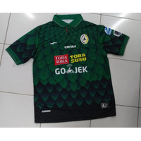 Jersey Baju Bola PSS PS Sleman Home Hijau Sponsor Musim 2017 2018 2021