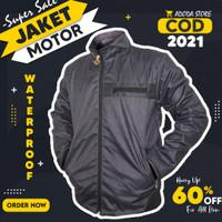 Jaket motor harian casual pria musim hujan anti air tahan angin AD144