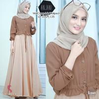 REAL PICT Baju Gamis Syari Anjani Terbaru Dress Kekinian Remaja Muslim