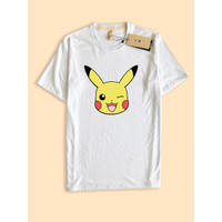 Kaos TShirt Baju premium muka pikachu pikacu head face