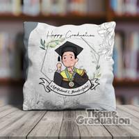 Bantal Foto Custom Karakter Wisuda / Graduation / Kado Wisuda