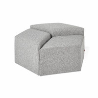RHOMBIO - Kursi Tamu Sofa Modular Minimalis Puff Ottoman   XIONCO - Hijau, Low