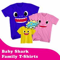BAJU - KAOS BABY SHARK CUTE FACE - TSHIRT BABY SHARK FAMILY