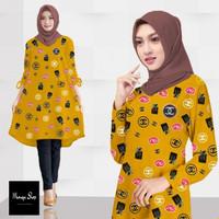 Baju Atasan Tunik Muslim Wanita MYCHL TERBARU/ baju tunik/ jumbo xxxl