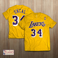 Tshirt kaos Basket NBA Classic LA Lakers 34 Shaquille O'Neal - Oneal - M