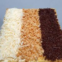 Bolu Lapis Tiga Rasa / Lapis 3 Rasa Cake (Coklat, Keju, Kacang)