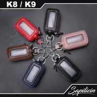 Dompet Remote Kunci Mobil Keyless Car Remote Leather Holder K8 K9