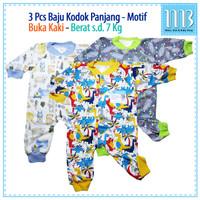 MIYO 3in1 Baju Bayi Jumper Baju Kodok Panjang Motif Sleepsuit Newborn