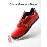 SOS !!! ARDILES Sepatu Futsal Dewasa - Skopje - Merah Hitam, 38