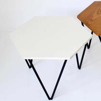 HEXTER - Modular Side Table / Meja Tamu Sudut Minimalis   XIONCO - Putih