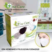 Masker KN95 5 Ply Earloop One Care / Masker Medis KN 95 Ijin Kemenkes - Putih