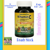Nature Plus Vit C 250 mg 90 Tabs Animal Parade untuk anak anak