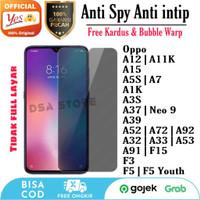 Anti Spy Privacy Oppo A15 A52 A72 A92 A32 A33 Tempered Glass Anti Gore