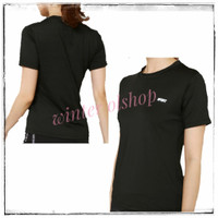 Tees Black Sport / Baju Atasan Olahraga Hitam Wanita / Kaos Gym - L