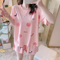 baby pink apple Hotpants piyama baju tidur wanita import
