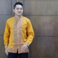 Koko Baju Batik Pria Lengan Panjang Atasan Pria Premium Modern