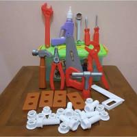 Mainan Edukasi Anak Tool Box Alat Tukang