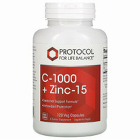 Protocol for Life Balance C-1000 + Zinc-15, 120 Veg Capsules