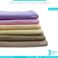 Bahan Kaos Kiloan 30s & 24s Cotton Combed Premium Quality Super Soft