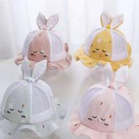 Topi Bucket Anak Bayi Telinga Bentuk Rabbit Carrot Ruffle