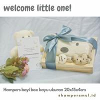 Hampers bayi box kayu size 20x15x4cm/hampers bayi Newborn/kado bayi