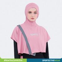 Jilbab hijab sport sporty olahraga senam sporte -pink