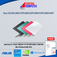 Asus Vivobook S14 S433EQ i5 1135G7 8GB 512GB MX350 2GB Win10 OHS