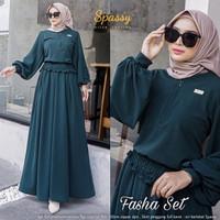 setelan rok blouse fasha set top skirt millano premium ori spassy