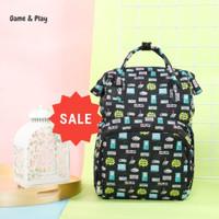 Tas Perlengkapan Bayi Ransel Diaper Bag Backpack USB Port -Game & Play