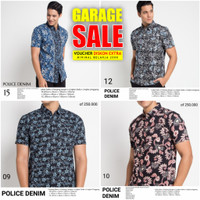 POLICE DENIM - Kemeja Batik Lengan Pendek Pria