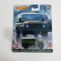 Hot Wheels Land Rover Defender Hard Top Hijau British Horse Power