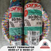 PROMO TERBARU PAKET CORSA TERMINATOR 80/80 & 90/80-17 BAN TUBETYPE
