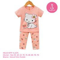 Setelan Baju Tidur Anak Perempuan Import CP Hello Kitty A Shirton