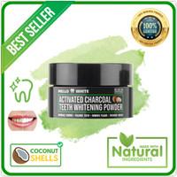 Bubuk Arang Charcoal Pemutih Gigi Alami - Mello White Teeth Whitening