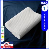 Memory foam pillow bantal hotel / kepala ergonomis putih polos - ikea
