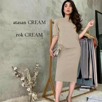 Set Knit Formal Dress (atasan dan rok)